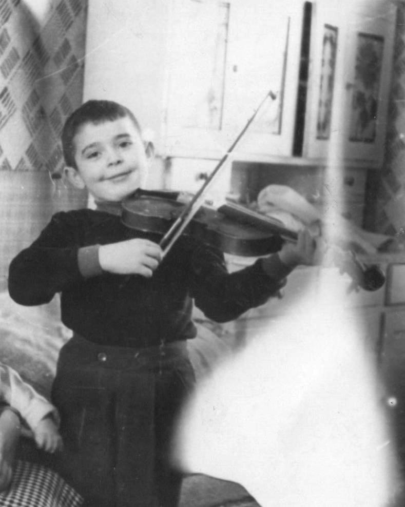 The first time I took the violin in my hands.